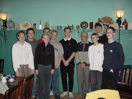 Gruppenfoto mit Professor Steinberger
