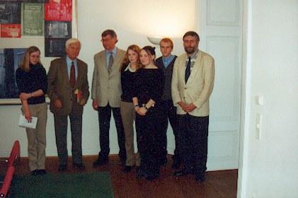Besuch beim Bundespräsidenten a. D. Dr. Richard von Weizsäcker am 26.04.2001 in Berlin