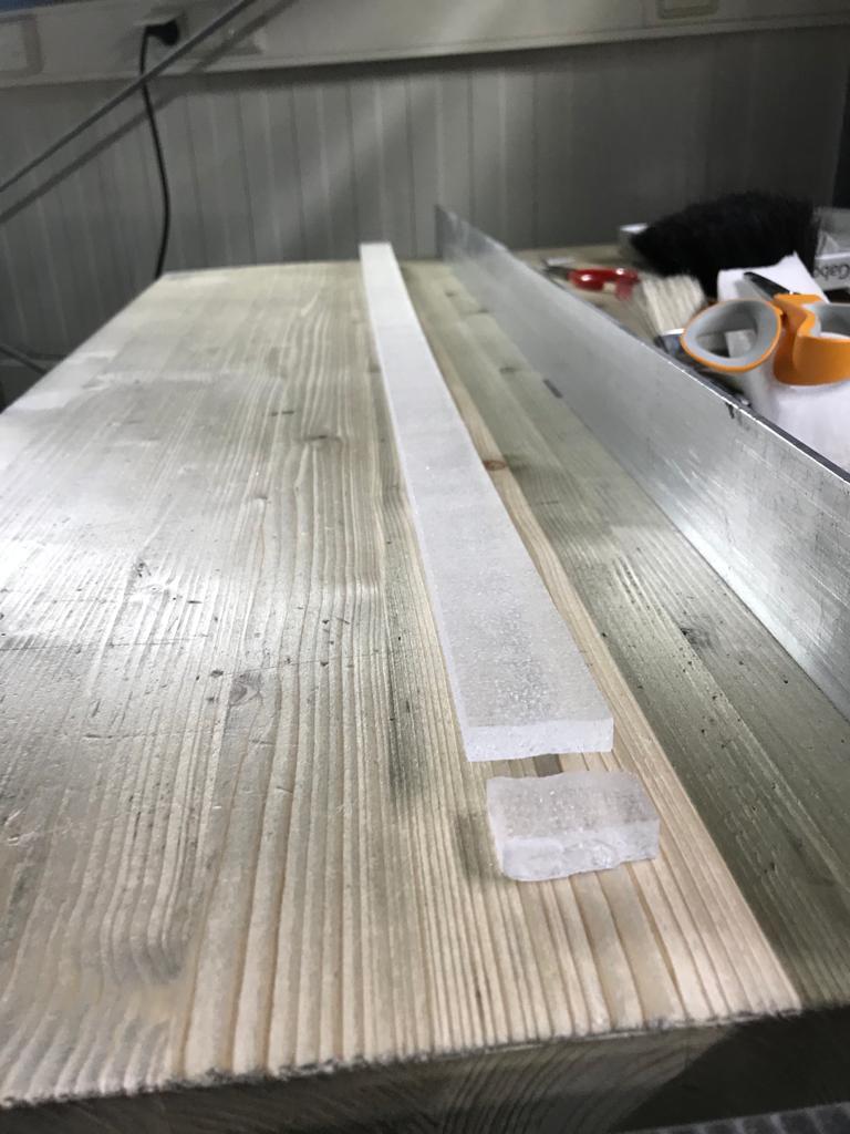 Ca. 1m langer Eiskern