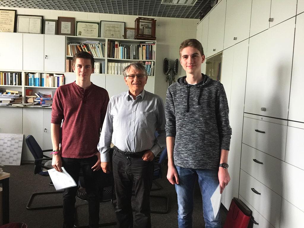 Wir beide mit dem Nobelpreisträger Klaus von Klitzing