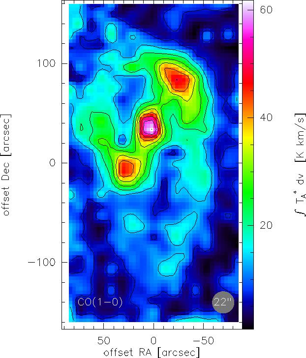 Die von mir erstellte Karte der Galaxie NGC3627