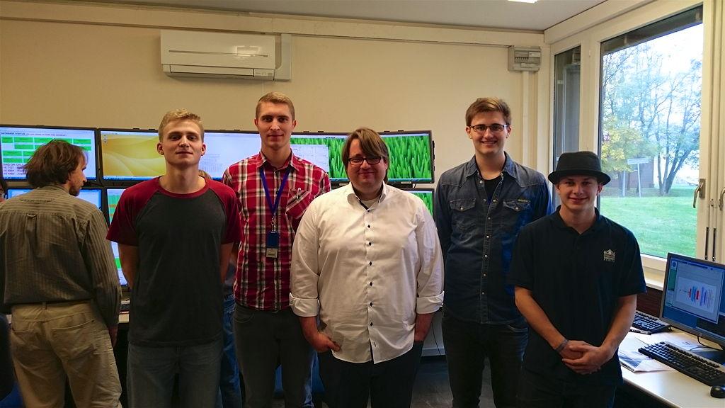 Holger Dirks (BBS), Keno Groß, (BBS), Johannes Bernhard, Martin Schröder und Ralf Herman Krüger (v. l.)